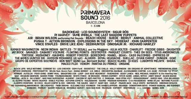 Primavera Sound 2016